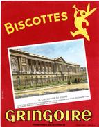 Buvard Biscottes Gringoire - Pithiviers En Gâtinais. Illustration : La Colonnade Du Louvre. - Biscottes