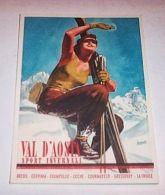 * Boccasile Cartolina Pubblicità Val D'Aosta 1940 - Publicités