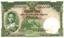 THAILAND 20 BAHT ND (1955) P-77d UNC SIGN. VINITCHAIKUN & UNGPHAKORN [TH148j] - Thailand