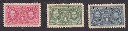 Panama, Scott #RA1-RA2, RA4, Mint Hinged, Pierre And Marie Curie, Issued 1939 - Panama