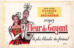 Buvard Fleur De Gayant, Pour La Cuisine Et La Pâtisserie. - Sucreries & Gâteaux