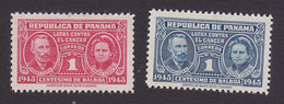 Panama, Scott #RA15, RA18, Mint Hinged, Pierre And Marie Curie, Issued 1945 - Panama