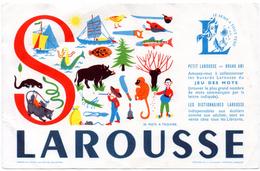 Buvard Larousse, Série Alphabet. Lettre S. - Stationeries (flat Articles)