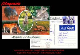 AUSTRALIA & OCEANIA. AUSTRALIA. ENTEROS POSTALES. TARJETA POSTAL CIRCULADA 2016. SYDNEY. AUSTRALIA-CIENFUEGOS. CUBA - Covers & Documents