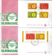 SURINAM SURINAME 25 FEBRUARA 1980 VERNIEUWING VAN DE EDUCATIEVE ORDE 2 ENVELOPES FDC - Surinam