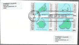 FEDERATED STATES OF MICRONESIA MICRONESIE INAUGURATION POSTAL SERVICE ENVELOPE YEAR  1984 FDC - Micronesië