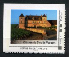 """CHATEAU DU CLOS DE VOUGEOT Adhésif Neuf ** . Collector """" LA BOURGOGNE """"  2009 - Collectors"""