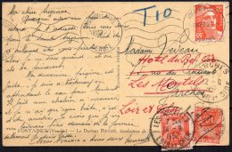 FRANCE - Carte Avec Une Double Taxe De 1952 Et Le Docteur ROUGER - 2 Scans - Storia Postale