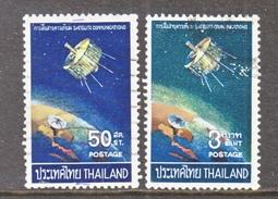 THAILAND  498-9  (o)  TELECOM  SATELLITE - Thailand