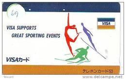 PHONECARD JAPAN * CREDITCARD * VISA  (69) Télécarte Japon * BANK CARD - Advertising