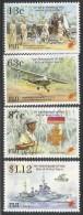 1995 Fiji  End Of World War II Planes Navy Ships Complete Set Of 4  MNH - Fiji (1970-...)