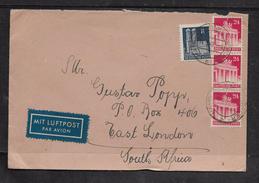 Germany 1949, Air Mail, Franked 80pf, HAMBURG > S.Africa - Bizone
