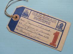 "CANADIAN PACIFIC "" EMPRESS Of CANADA "" 1948 ( BAGAGE Label + Extra ) Raymond Hubert / Zie Foto Voor Detail !! - Boats"