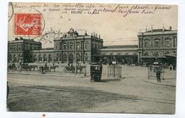 CPA 51 : REIMS  La Gare Animée  1913     A  VOIR  !!!!!!! - Reims