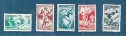 Monaco Timbre De 1948  N°319 A 323 Complet  Timbres Neufs ** Parfait - Monaco
