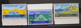 Y31 -  Yemen AR 1964 Mi. 349/51 Coplte Set 3v. MNH - Inauguration Of Hudaida Airport, Airliners - Yemen