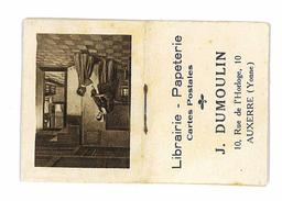 PETIT CALENDRIER 1930 PUB LIBRAIRIE PAPETERIE CARTES POSTALES DUMOULIN  AUXERRE - Calendriers