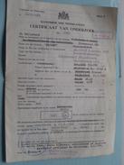 """CERTIFICAAT Van ONDERZOEK """" REJEAN """" ( Nr. 3367 Willebroeck / Millevert / Desschel ) 1976 - Zie Foto's !! - Barche"""