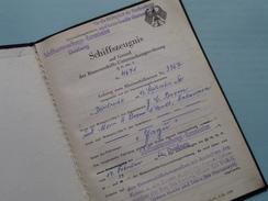 """SCHIFFSZEUGNIS """" JAGU (?)  """" ( Nr. 4671 / 3367 Dordrecht 1960 / Boom Antwerpen ) Duisburg 1962 - Zie Foto's !! - Boten"""