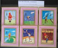 Y31 -  Yemen AR 1982 Mi. 1683-1688 Complete Set 6v. DELUXE SHEETS MNH - Einelblocks B - Moscow Olympic Games 1980 - Yemen