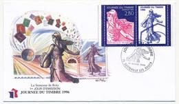 FRANCE => Enveloppe FDC Journée Du Timbre 1996 (Semeuse) - Sotteville Les Rouen - Journée Du Timbre