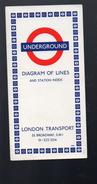 (Londres London) Plan Du Métro  Diagram Of Lines 1969 (PPP5281) - Cartes