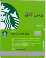 China Starbucks Coffee Card Green Spring 1pc - Chine