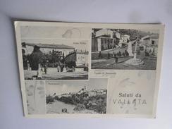 SALUTI DA VALLATA - AVELLINO - VEDUTINE - 1957 -   CARTOLINA POST CARD 15X10 - Avellino