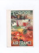 Lot  2  Menus    Publicité  Air  France    Europe  & Amérique Du Nord - Menus