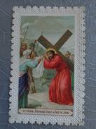 IMAGE PIEUSE CHEMIN DE CROIX 6 EME   VERONIQUE ESSUIE LA FACE DE JESUS - Images Religieuses