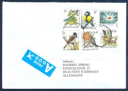 D3- Postal Used Cover. Posted From Belgium To Deutschland. Allemagne. Birds. - Belgium