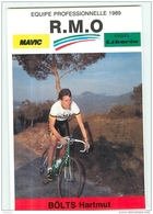 Hartmut BOLTS, Champion D'Allemagne . 2 Scans. Cyclisme. RMO 1989 - Ciclismo