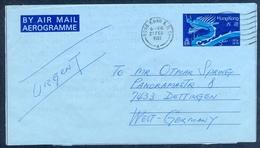 D17- Postal Used Aerogram. Posted From Hong Kong To West Germany. - Hong Kong (1997-...)