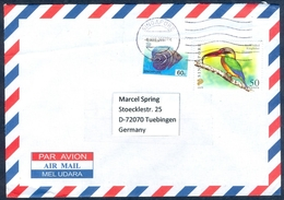D21- Postal Used Cover. Posted From Singapore To  Germany. Fish. Bird. - Singapore (1959-...)