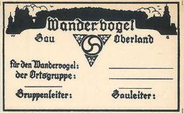 Ostgruppe - Wandervogel Oberland Kunstler AK Germany Silhouette 2scans - Germany