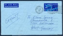 D25- Postal Used Aerogram. Posted From Hong Kong To West Germany. - Hong Kong (1997-...)