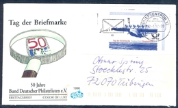 D36- Postal Used Cover. Posted From Deutschland. Stamo On Stamp. Aero-plane. - Germany