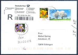 D39- Postal Used Cover. Posted From Deutschland. Flowers. Tree. - Germany