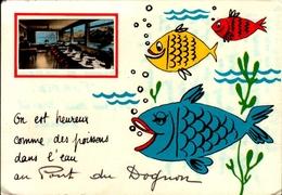 87-on Est Heureux Comme Des Poissons ..AU PONT DU DOGNON-HUMOUR AVEC VERITABLE PETITE PHOTO EN HAUT..CPSM GRAND FORMAT - France