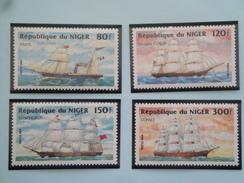 1984 Niger Yvert 640/3 **  Bateaux Ships  Scott Xx  Michel  888/91  SG Xx - Niger (1960-...)