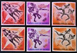 PREPAEATION JEUX OLYMPIQUES 1963 - SURCHARGES ROUGES ET ORANGES - NEUFS ** - YT 171/76 - MI 211/13 - Guinée (1958-...)