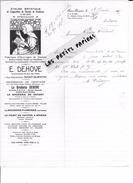 02 - Aisne - ST-QUENTIN - Facture DEHOVE - Fabrique D'ouvrages De Dames - Broderies - 1927 - REF 263 - 1900 – 1949