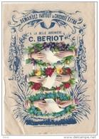 - Chromo Découpis  Chicorée BERIOT LILLE - Sur Son Support D'origine  La Belle Jardinniere - 12cm Par 18 Cm - Mains - Découpis