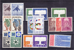 Europa Cept 1957 Year Set 9 Countries 18 Values ** Mnh (original Gum !!!) (YEAR) - Europa-CEPT