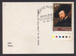 Rubens Self Portrait Maximum Card 1975  # 19906  India - Rubens