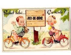 Carte A Systeme Depliant Puy De Dome 63 Vélo Bicyclette Auvergne Vintage - France