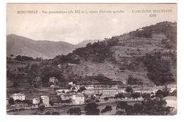 07 Montpezat Sous Bauzon Vue Panoramique Cpa Ardeche Illustrée - Autres Communes