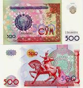 UZBEKISTAN       500 Som       P-81       1999       UNC - Uzbekistan