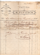 """Austria - Villach - Fattura Della Ditta """" M. Pufitsch """"  Datata  2 Giugno 1899 - (FDC4971) - Austria"""