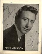 AUTOGRAPHES - CELEBRITES - PETER JACKSON - Théâtre PACRA à Paris - Dédicace - Autographes